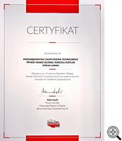 Certyfikat rzetelności Krajowego Rejestru Długów
