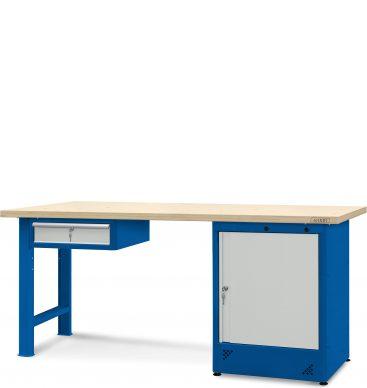 Stół warsztatowy 2100mm,  1 szafka H13, 1 szafka H11