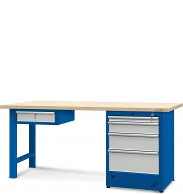 Stół warsztatowy 2100mm, 1 szafka H13, 1 szafka H12