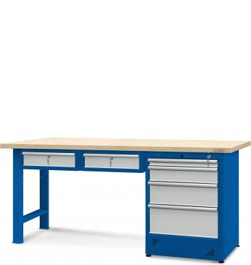 Stół warsztatowy 2100mm, 2 szafki H13, 1 szafka H12
