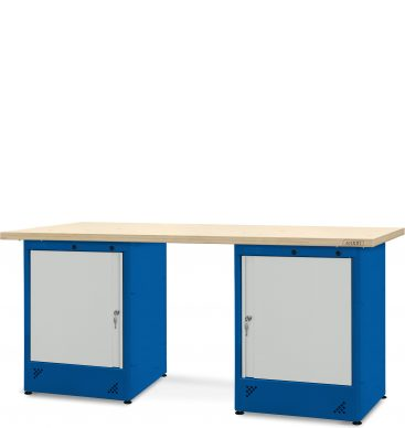 Stół warsztatowy 2100mm, 2 szafki H11