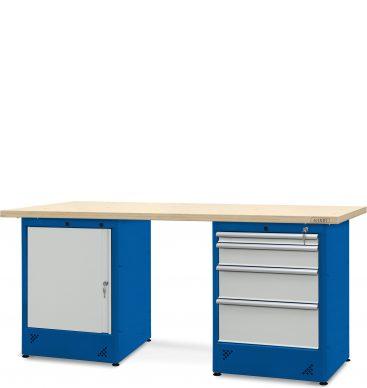 Stół warsztatowy 2100mm, 1 szafka H11, 1 szafka H12