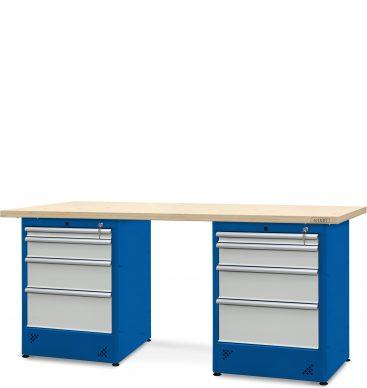 Stół warsztatowy 2100mm, 2 szafki H12