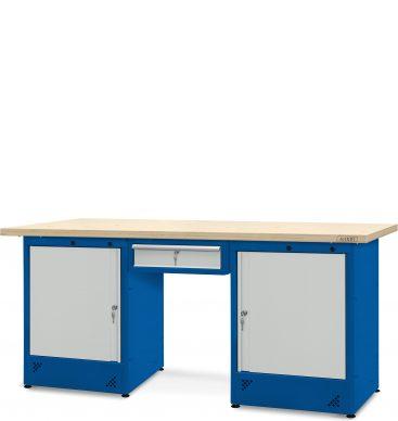 Stół warsztatowy 2100mm, 1 szafka H13, 2 szafki H11
