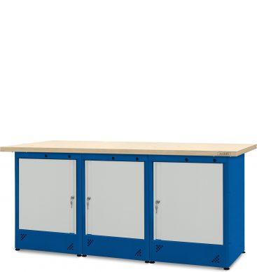 Stół warsztatowy 2100mm, 3 szafki H11