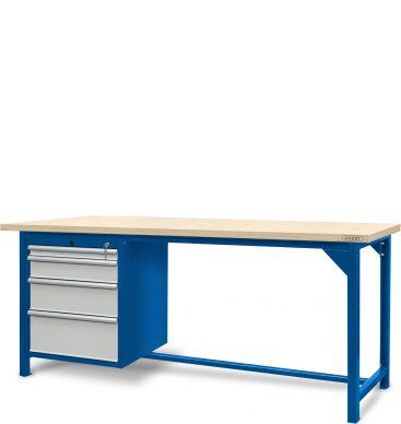 Stół ślusarski 2100mm, 1 szafka S14