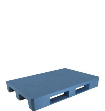 Paleta plastikowa 1200x800mm, pełna, na płozach, niebieska