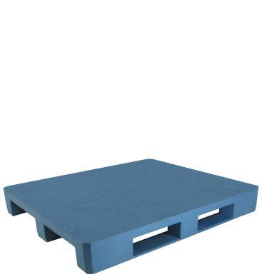 Paleta plastikowa 1200x1000mm, pełna, na płozach, niebieska