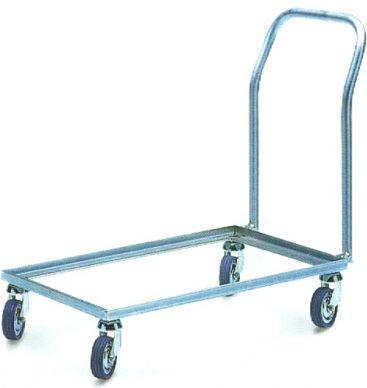 Wózek-podstawka do pojemników 600x400 z pałąkiem, metalowy