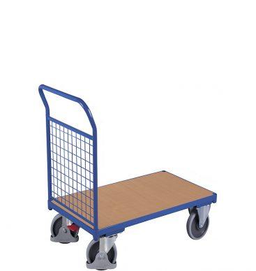 Wózek platformowy 1-burtowy 900 x 500, 400kg, wypełnienie z siatki