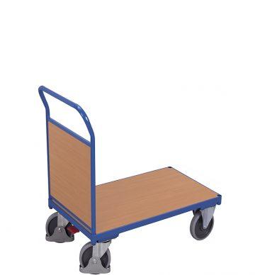 Wózek platformowy 1-burtowy 900 x 500, 400kg, wypełnienie z płyty