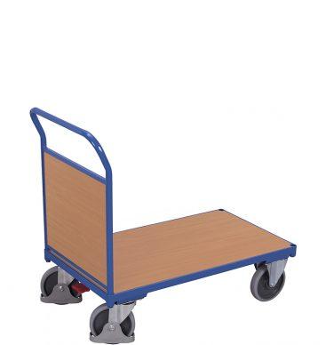 Wózek platformowy 1-burtowy 1000 x 600, 500kg, wypełnienie z płyty