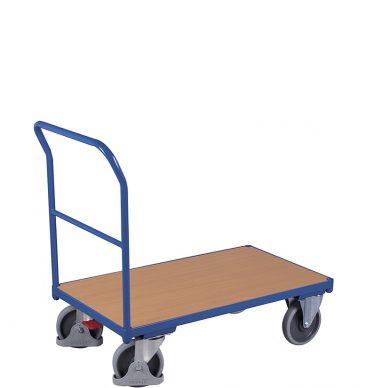 Wózek platformowy 1-burtowy 1030 x 700,  500kg, z poprzeczką