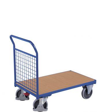 Wózek platformowy 1-burtowy 1000 x 700, 500kg, wypełnienie z siatki