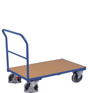 Wózek platformowy 1-burtowy 1200 x 800, 500kg, z poprzeczką