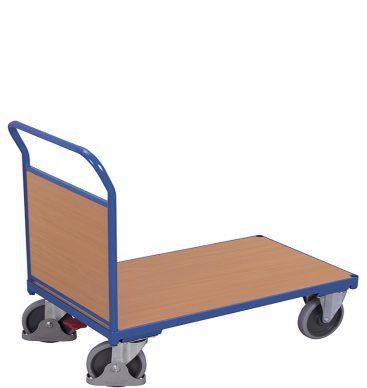 Wózek platformowy 1-burtowy 1200 x 800, 500kg, wypełnienie z płyty