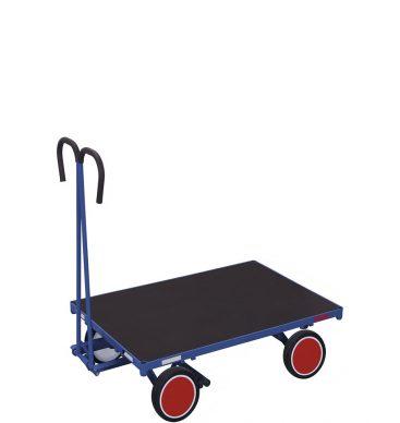 Wózek platformowy z dyszlem 1000x700mm, bez burt