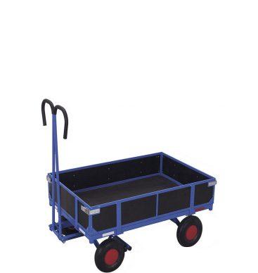Wózek platformowy z dyszlem 1000x700mm, z burtami