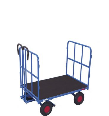Wózek platformowy z dyszlem 1000x700mm, 2 burty rurkowe