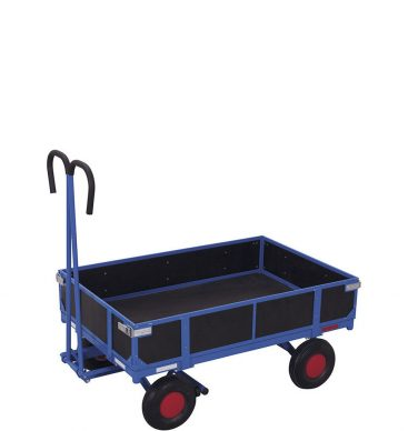 Wózek platformowy z dyszlem 1200x800mm, z burtami