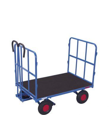 Wózek platformowy z dyszlem 1200x800mm, 2 burty rurkowe