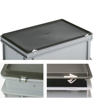 Pojemnik plastikowy zamykany 600 x 400 x 185mm