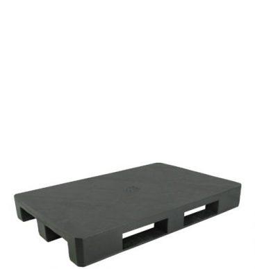 Paleta plastikowa 1200x800mm, pełna, na płozach, czarna
