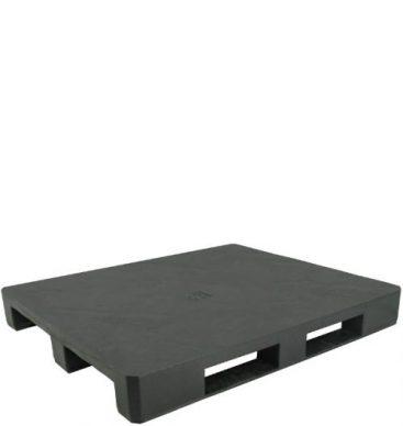 Paleta plastikowa 1200x1000mm, pełna, na płozach, czarna